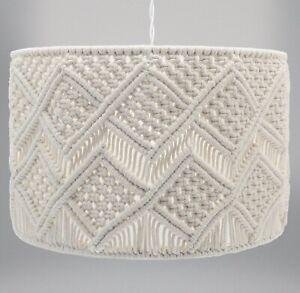 Macrame Geometric Chandelier Style Ceiling Pendant Light Lamp Shade Natural 35cm