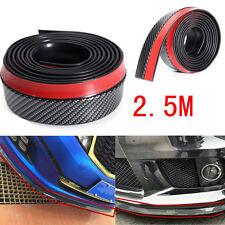 2.5M Carbon Fiber Car Front Bumper Lip Splitter Spoiler Chin Lip Skirt Protector