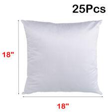 "25Pcs 18"" x 18"" Plain White Sublimation Blank Pillow Case Fashion Cushion Cover"