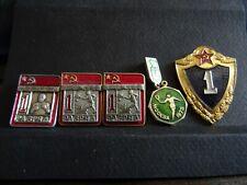 5 Lot vintage Soviétique Lot de broches Red Émail pinback Collectible M 204