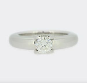 Cartier Engagement Ring - Cartier C De Cartier 0.50 Carat Diamond Solitaire 18ct