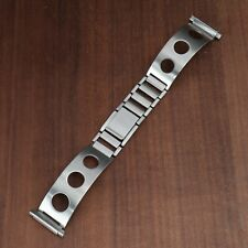 Vintage Baker-Wells Watch Band Bracelet Stainless Steel Butterfly Clasp 16-21mm