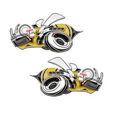 2PCS 3D Super Bee Metal Emblem Badge Stickers for Dodge Challenger Chrysler, etc