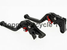 FXCNC Black&Red Short Brake Clutch Levers For YAMAHA XT600 E 90-02 XT600 84-86