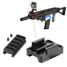 Aluminum Rail Gun Mount GoPro Camera Hero wiv Worker MOD Rail Nerf Battle Gear