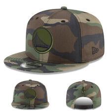 New Era NBA Golden State Warriors Snapback Hat Green Camouflage Adjustable Cap