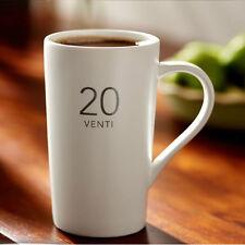 Classic White OUNCES series Ceramic Cup MATT VENTI 20oz porcelain Coffee Mug