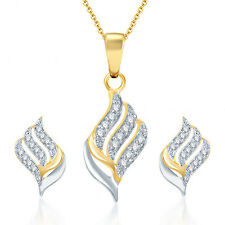 Sukkhi Well Crafted Gold and Rhodium Plated CZ Pendant Set - 125PS600