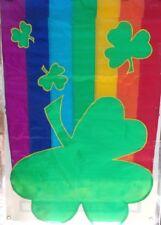 Rainbow SHamrock Standard House Flag by NCE  #20593 Fun Shape!
