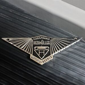 Black VW Hebmuller Badge oval split heb zwitter okrasa kdf volkswagen kafer