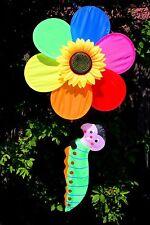 Tall Sunflow with Caterpillar Wind Spinner/garden/yard/decor ation/great gift