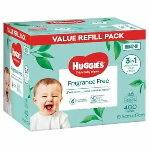 Huggies Wipes Fragrance Free 400 Pack
