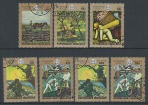 Togo - 1968, Anniiversary of ILO (Paintings) set - CTO - SG 713/19 (c)