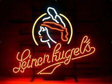 """Leinenkugel's Wiscons Beer Neon Lamp Sign 17""""x14"""" Bar Light Garage Cave Glass"""