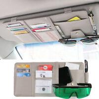 Kfz Auto Sonnenblende Organizer Aufbewahrung Beutel Karten Sonnenbrille Halter K