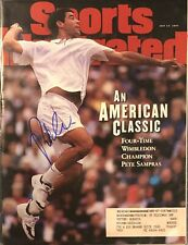 Pete Sampras Signed Sports Illustrated Wimbledon Tennis 7/14/97 Issue SI HOF