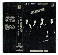 TELEPHONE Insus ? K7 CASSETTE TAPE Audio AU COEUR DE LA NUIT -PATHE MARCONI RARE
