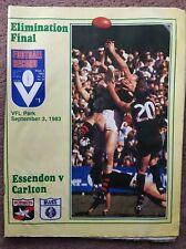 VFL1983 Elimination  FINAL RECORD     Essendon v Carlton