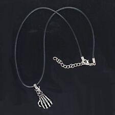 Stainless Steel Chain Pendant Necklace Men Punk Hand Skeleton Skull Titanium