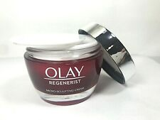 EMPTY Red & Silver With White Writing Olay Regenerist 1.7 OZ Cream Jar and Lid
