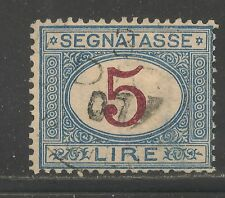 Italy #J18 (D3) FVF USED - 1870 5 L Numeral - Postage Due SCV $32.50