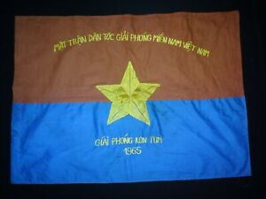 Vietnam War VC National Liberation Front GIAI PHONG KON TUM 1965 Battle Flag