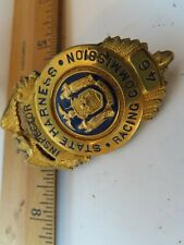 Rare Vintage Obsolete State Harness Racing Commission Inspector #46 Badge