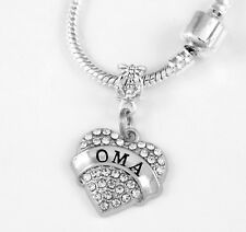 OMA Charm gift fits European style bracelet or necklace best OMA charm only