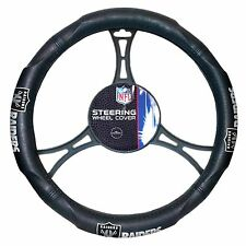 NFL Oakland Raiders Synthetic Leather Premium Steering Wheel Cover Washable