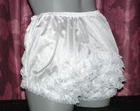 adult sissy nylon ruffle  rhumba tennis panties  U.S. made  m-l-xl frilly