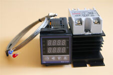 PID Temperature Control Kit REX-C100 40A SSR with K Thermocouple Probe Heat Sink
