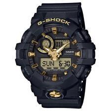 CASIO G-SHOCK, GA710B-1A9 GA-710B-1A9, ANALOG DIGITAL, MATTE BLACK x GOLD TONE