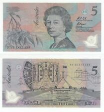 AUSTRALIA  5 Dollars  ND1992  VF   Polymer  QEII banknote  Serial prefix AA 96