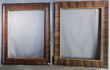 NEAR Pair 16x20 Arts Crafts Hand Grained Faux Striped Picture Frames Empire 1910