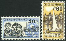 Czechoslovakia 1135-1136, MNH. Children in day nursery; Sailboat,Rest Home, 1962