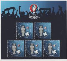 France 2016 UEFA Euro 2016 2 € 3D bloc de 5 timbres odeur gazon RARE F5050A
