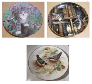 3 plates Cat Purr-fect Places Kitten Kapers Birds ALT Tirschenreuth