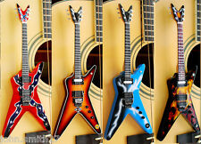 Miniature Guitar Dimebag Darrell Pantera Set of 4 Wavy, Driven, Lightning &Flame