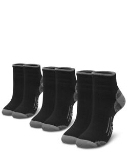 EDZ All Sport Merino Running Socks Black (3 pack)