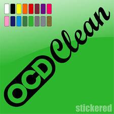 OCD Clean divertente Auto / Van / Caravan / Finestra Adesivo Vinile / decalcomania JDM euro