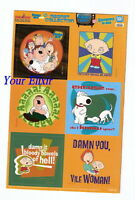 NEW Sheet Lot of 6 Family Guy Hilarious Funny MAGNET