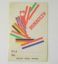 VECCHIO ADESIVO AUTO anni '80 / Old Sticker RENAULT 9 (cm 10 x 16)