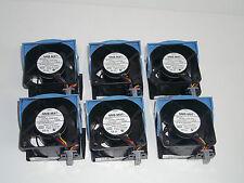 Lot of 6 Dell PowerEdge 2850 FANs Good CLEAN 0H2401 0W5451 fan set