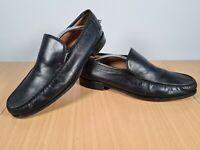Mens Loake Black Real Leather Moccasin Loafer Shoes UK 12