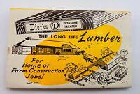 Vintage DUNKERTON CO-OP ELEVATOR IOWA LUMBER AG UNSTRUCK MATCHBOOK