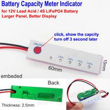 4S 12V Lead Acid LiFePO4 Lithium Li-ion Battery Capacity Level Indicator Meter