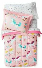 New! Unicorn Comforter Sham & Star Sheet Set Full Size 7 pc Bed In A Bag Pink