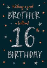16th BROTHER BIRTHDAY CARD AGE 16 QUALITY CARD MODERN DESIGN NICE VERSE BY IC&G