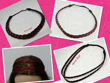Cute Wine Red Headband 3 Styles Of Lot Synthetic Wig Braided Hair Headband