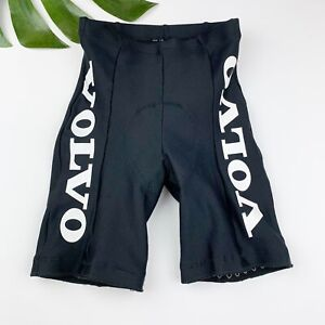 Cannondale Volvo Cycling Shorts Mens Size S Small Black White Logo Padded USA